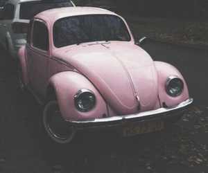 pink, car, and grunge image