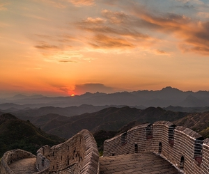 sunset, nature, and china image