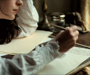 pretty, becoming jane, and writing image