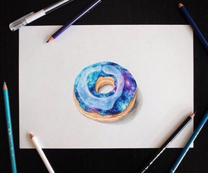 donuts, art, and drawing image