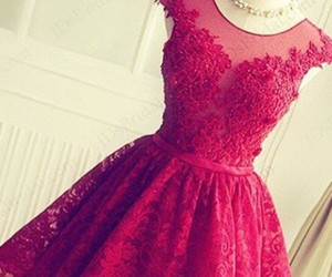dress, homecoming, and lace image