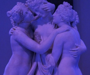 purple, statues, and poligamy image
