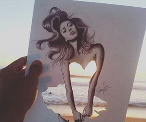 art, beach, and beautiful image