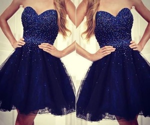 blue, dress, and ‎cocktaildress‬‪ image