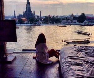 girl, view, and city image