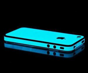 iphone, blue, and neon image