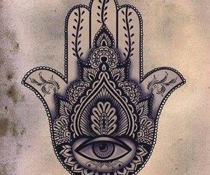 hamsa, drawing, and eye image