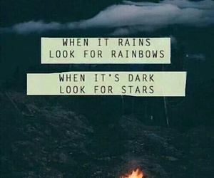 quotes, stars, and rainbow image