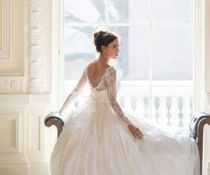 bridal, dress, and wedding image
