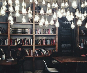 beautiful, books, and lights image