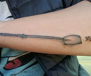 rowing, tattoo, and oar image