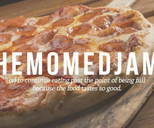 words, food, and pizza image