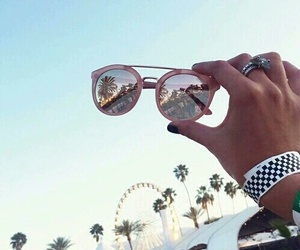 summer, sunglasses, and coachella image