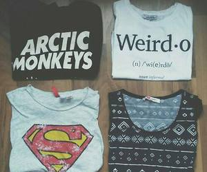 superman, arctic monkeys, and t-shirt image