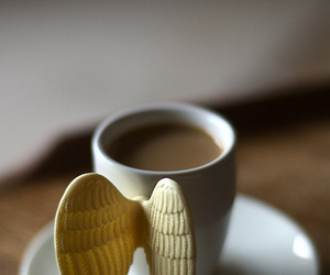 coffee, cup, and angel image