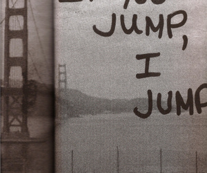jump and text image
