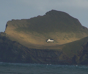house, nature, and Island image