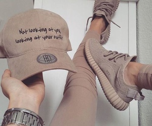 beige, fashion, and cap image