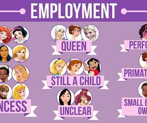 disney, princess, and jobs image