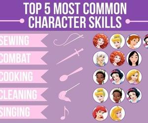 disney, princess, and skills image