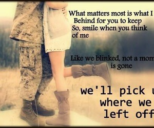 love and military girlfriend image
