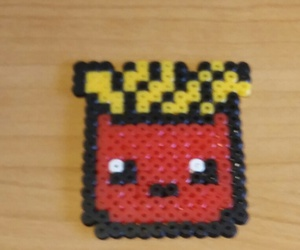 pyssla, hama beads, and patatine image