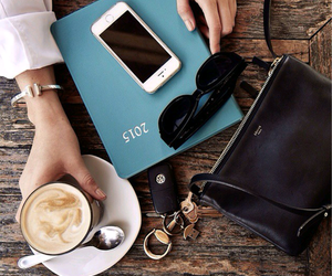 bag, hipster, and coffee image