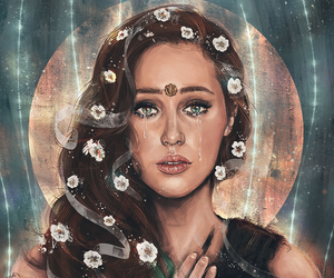 lexa, the 100, and art image
