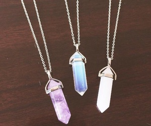necklace, crystal, and fashion image