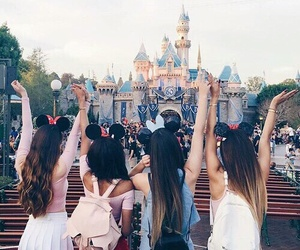 disney, friends, and disneyland image