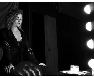 lucy hale, black and white, and pretty little liars image