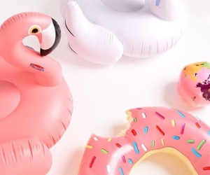 pink, donut, and Swan image