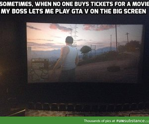 awesome, cinema, and funny image