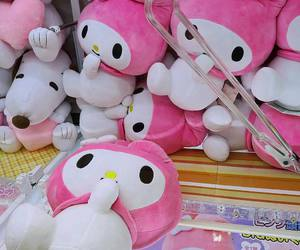 my melody, sanrio, and pink image