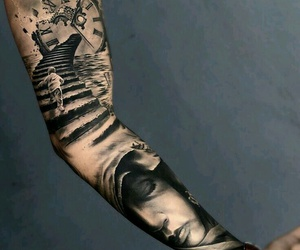 ink, Tattoos, and sleeve image