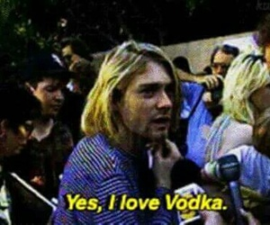 vodka, kurt cobain, and nirvana image