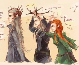 the hobbit and lot of the king image