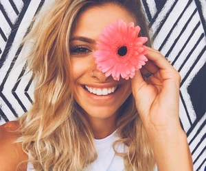 flower, girl, and tumblr image