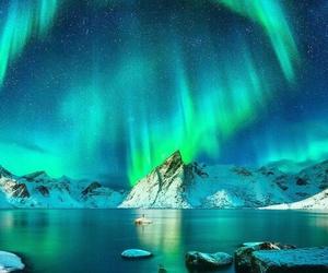 aurora borealis, nature, and northern lights image