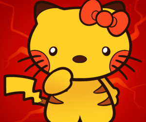 hello kitty and pikachu image
