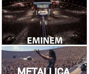eminem, metallica, and one direction image