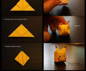 pikachu, origami, and diy image