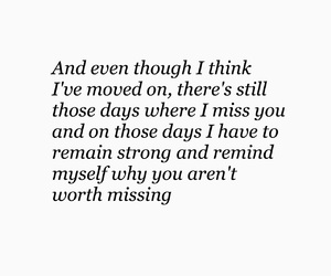 heartbroken, missing, and quotes image
