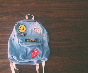 backpack, bag, and ramones image