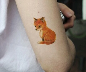 tattoo, fox, and indie image