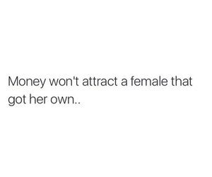 female, money, and quote image
