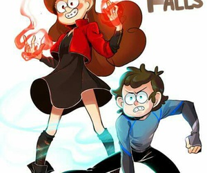 mabel, dipper, and gravity falls image