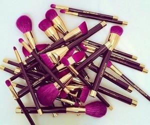 make up, Brushes, and makeup image