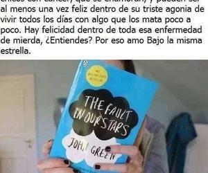 bajo la misma estrella, book, and john green image