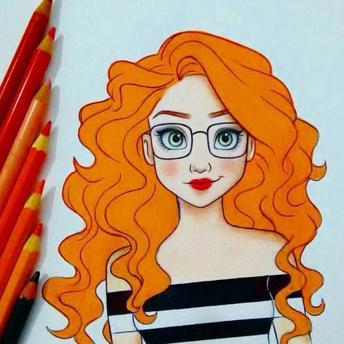 Curly Hair Drawing Discovered By On We Heart It